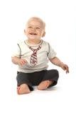 behandla som ett barn gulligt skratta för pojke Royaltyfria Bilder
