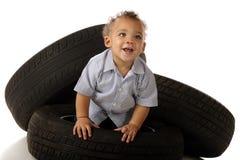 behandla som ett barn gummihjulet Royaltyfria Foton