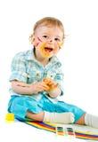 behandla som ett barn härlig ljus räknad målarfärg Royaltyfria Bilder