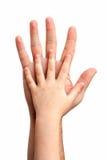 behandla som ett barn händer Royaltyfri Fotografi