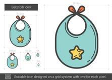 Behandla som ett barn haklapplinjen symbol royaltyfri illustrationer