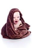behandla som ett barn handduken under royaltyfri fotografi