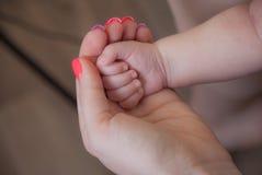 Behandla som ett barn handen i hand för moder` s Royaltyfria Foton
