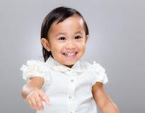 Behandla som ett barn handen upp Royaltyfria Foton
