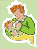 behandla som ett barn hans fadermatning Royaltyfria Foton