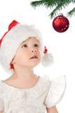 behandla som ett barn hatten nätt santa arkivfoto