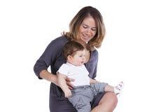 behandla som ett barn henne modersonen Royaltyfria Foton