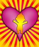 Behandla som ett barn hjärta Arkivfoton