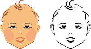 Behandla som ett barn huvudet royaltyfri illustrationer