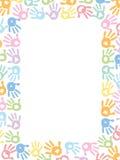 Behandla som ett barn illustrationen för vektorn för fottryck den pastell färgade royaltyfri illustrationer