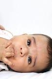 behandla som ett barn indiska fyra little gammal månad Royaltyfri Foto