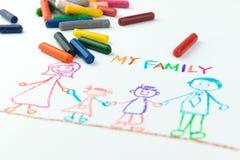 behandla som ett barn isolerade ungen för pojketeckenteckningen illustrationen Royaltyfri Fotografi