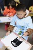 behandla som ett barn isolerade ungen för pojketeckenteckningen illustrationen Royaltyfria Bilder