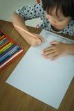 behandla som ett barn isolerade ungen för pojketeckenteckningen illustrationen Fotografering för Bildbyråer