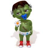 Behandla som ett barn Jake Frankenstein med blomman Royaltyfria Bilder