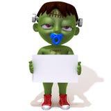 Behandla som ett barn Jake Frankenstein med den vita illustrationen för panelen 3d Arkivfoton