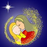 behandla som ett barn jesus mary Royaltyfri Fotografi