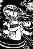 behandla som ett barn jesus mary vektor illustrationer
