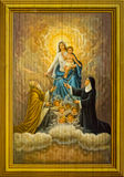 Behandla som ett barn Jesus och jungfruliga Mary Arkivfoto
