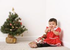 behandla som ett barn jul Arkivbilder