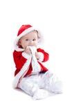behandla som ett barn jul första Royaltyfri Bild