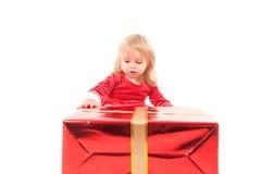 behandla som ett barn julflickan little Fotografering för Bildbyråer