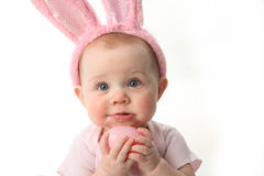 behandla som ett barn kaninen easter Arkivfoton