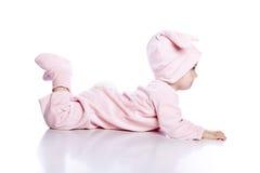 behandla som ett barn kaninen isolerat dräktslitage royaltyfri fotografi