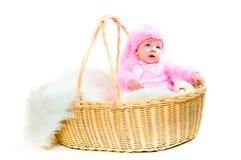behandla som ett barn kaninen klädde easter roliga nyfödda dräkten Royaltyfria Bilder