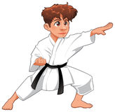 behandla som ett barn karatespelare Royaltyfri Fotografi