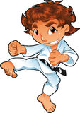 behandla som ett barn karatespelare stock illustrationer