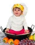 Behandla som ett barn kocken Fotografering för Bildbyråer
