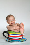 behandla som ett barn koppen Arkivfoto