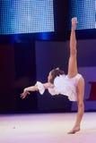 'Behandla som ett barn koppen - BSB-bank' barns konkurrenser i gymnastik, 05 December 2015 i Minsk, Vitryssland Royaltyfria Foton
