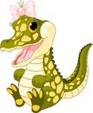behandla som ett barn krokodilflickan Royaltyfria Bilder
