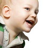 behandla som ett barn leendet Arkivbild