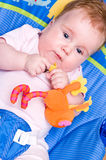 behandla som ett barn leka toys för flickan Fotografering för Bildbyråer
