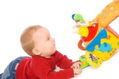 behandla som ett barn leka toys för pojken Fotografering för Bildbyråer