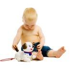 behandla som ett barn leka toys för pojken isolerat Fotografering för Bildbyråer