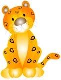 behandla som ett barn leoparden Arkivbilder