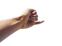 Behandla som ett barn lillfingret - fingrar Royaltyfria Foton