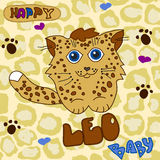 Behandla som ett barn lite leoparden Arkivfoton
