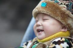 behandla som ett barn lycklig snow Royaltyfria Foton