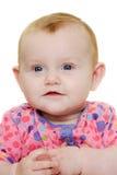 behandla som ett barn lycklig white för bakgrund Arkivfoto
