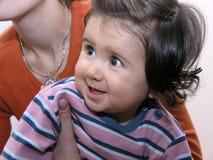behandla som ett barn lyckligt Arkivbild