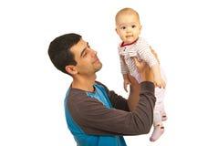 behandla som ett barn lyckligt hans för faderflicka Arkivfoton