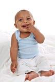 behandla som ett barn lyckligt le för stor pojke Royaltyfri Bild