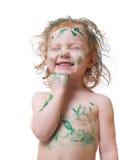 behandla som ett barn målarfärg Fotografering för Bildbyråer