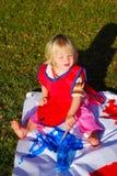 behandla som ett barn målning utomhus royaltyfri foto