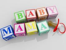behandla som ett barn mamaen Fotografering för Bildbyråer